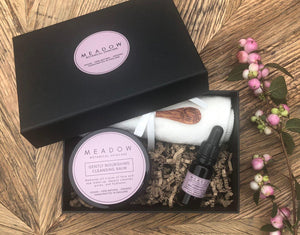 Plant-based Skincare: Cleanse & Restore Gift Set, by Meadow Skincare