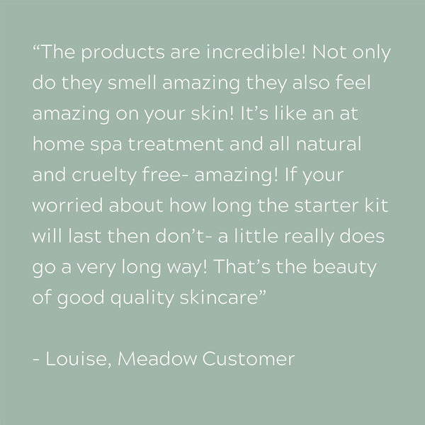Plant-based Skincare: Facial in a Box Luxury Starter Kit, by Meadow Skincare