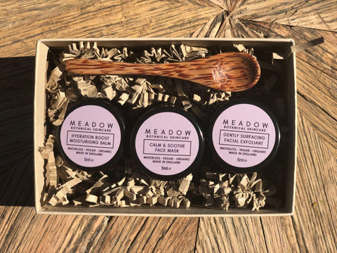 Plant-based Skincare: Mini Detox Trio Gift Set, by Meadow Skincare