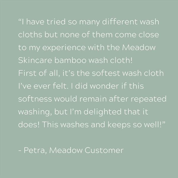 Plant-based Skincare: Bamboo Washcloth, by Meadow Skincare
