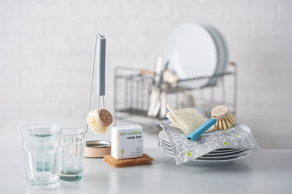 Plastic Free Replacement Washing Up Brush Head with Natural Bristles, by Eco Living