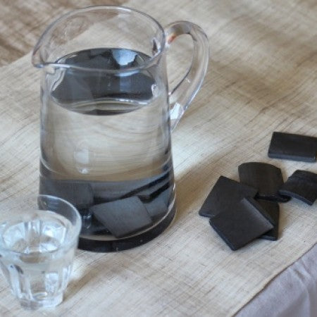 Biodegradable bamboo charcoal water filters, by EcoLiving
