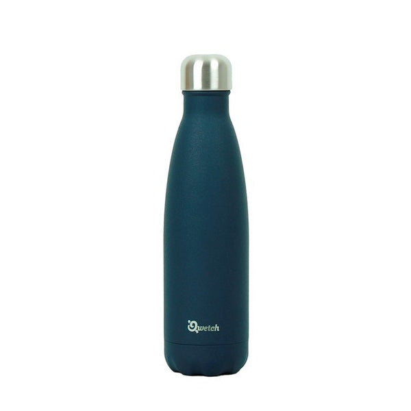 Reusable Insulated Stainless Steel 500ml Bottle - Smooth Finish, by Qwetch
