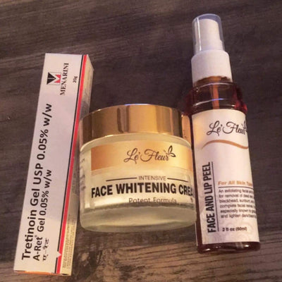Le'Fleur Face Whitening 3 PC Set- 60ml/2oz