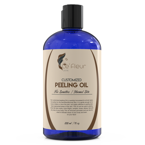 Le'Fleur Customized Peeling Oil- For Sensitive/Normal Skin- 500ml/16oz