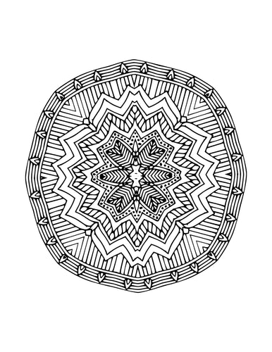 10 Mandala Coloring Sheets