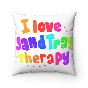 I Love Sand Tray Therapy Spun Polyester Square Pillow Case