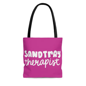 Pink Sandtray Therapist Tote Bag