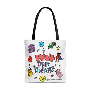 Doodle I Love Play Therapy Tote Bag