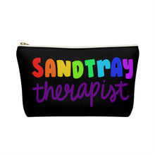 Load image into Gallery viewer, Black  Sandtray Therapist Accessory Pouch w T-bottom