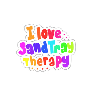 I Love Sand Tray Therapy Kiss-Cut Stickers