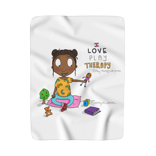 I love Play Therapy Sherpa Fleece Blanket