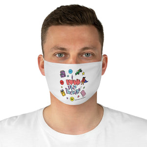I Love Play Therapy Fabric Face Mask