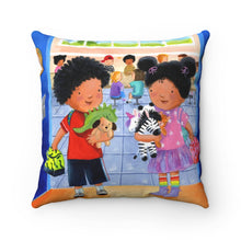 Load image into Gallery viewer, Elizabeth Makes a Friend Square Pillow