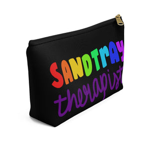 Black  Sandtray Therapist Accessory Pouch w T-bottom