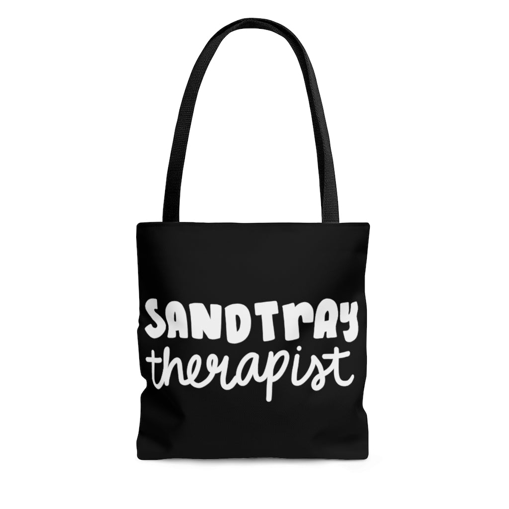 Black Sandtray Therapist Tote Bag