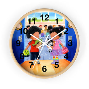 Elizabeth Makes a Friend Wall Clock
