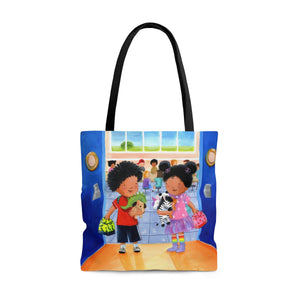 Elizabeth Makes a Friend Tote Bag