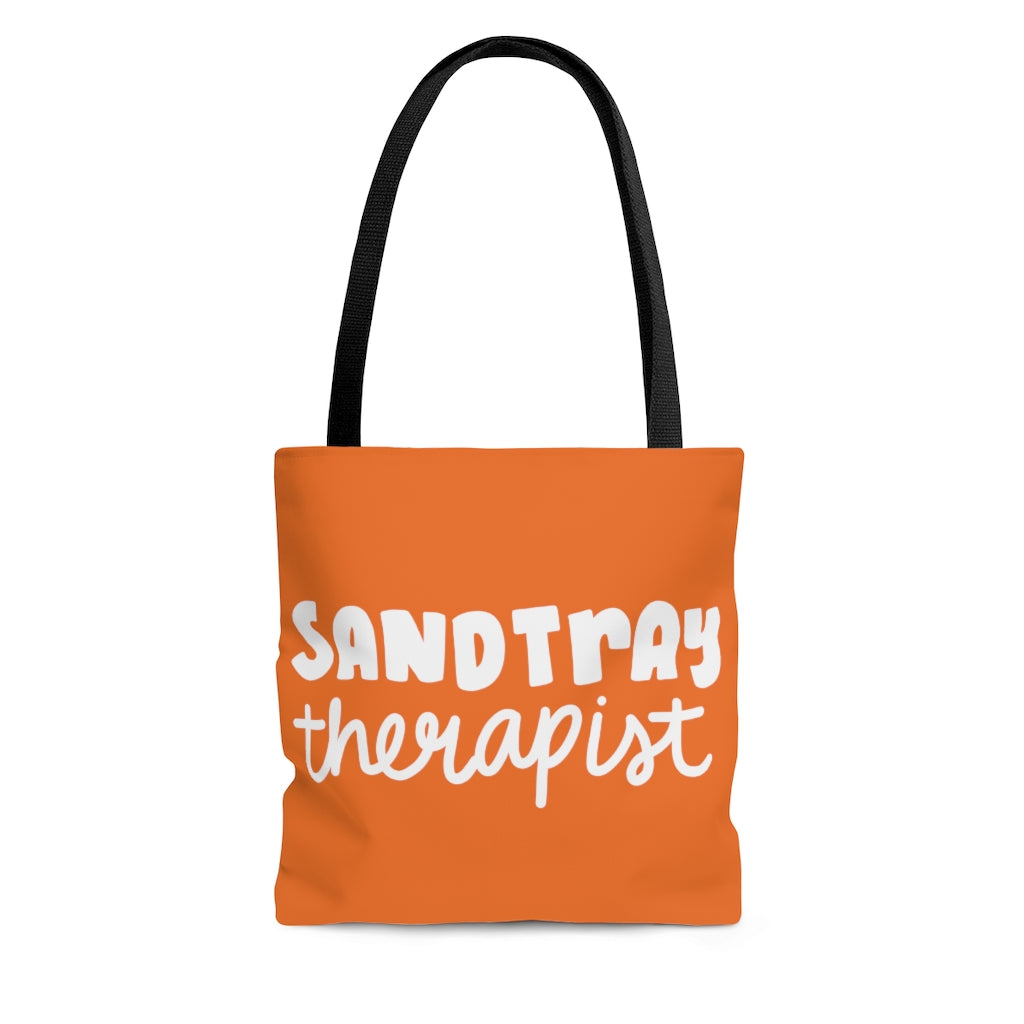 Organge Sandtray Therapist Tote Bag