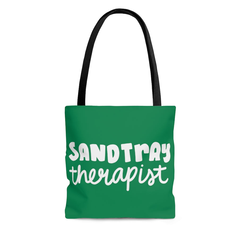 Green  Sandtray Therapist Tote Bag