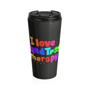 I Love Sand Tray Stainless Steel Travel Mug