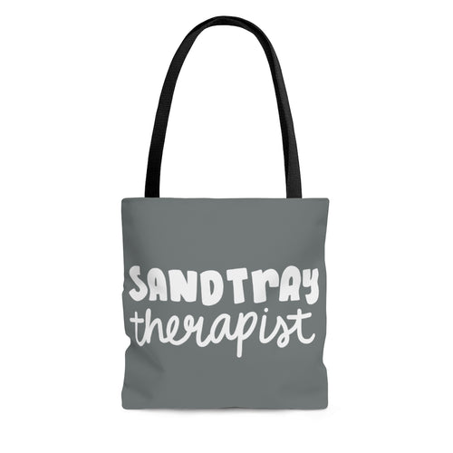 Gray Sandtray Therapist Tote Bag