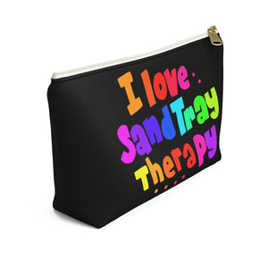 I Love SandTray Therapy Accessory Pouch w T-bottom
