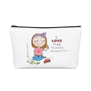 I love Play Therapy Accessory Pouch w T-bottom