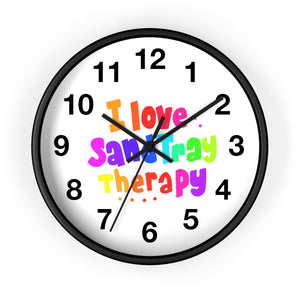 I Love Sand Tray Wall clock