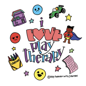Stickers  I love Play Therapy