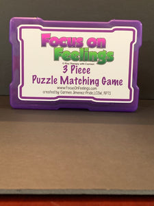 Focus on Feeling©️ 3 Piece Puzzle Matching Game