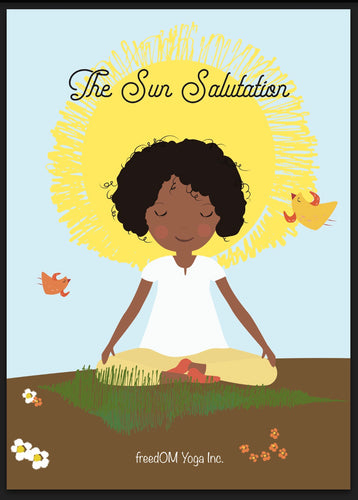 Sun Salutations Flash Cards and Story