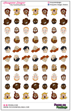 Load image into Gallery viewer, Focus on Feeling©️ Mini Faces Sticker Sheet