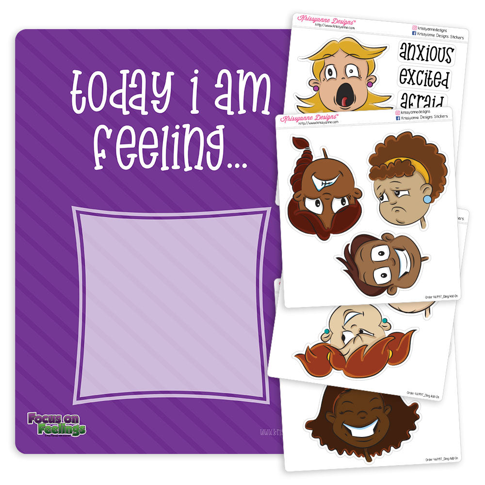 Feelings Board with Removable Faces