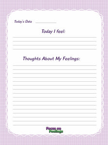Feelings Worksheet Pad