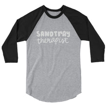 Load image into Gallery viewer, Sandtray Therapist 3/4 sleeve raglan shirt (White writing)