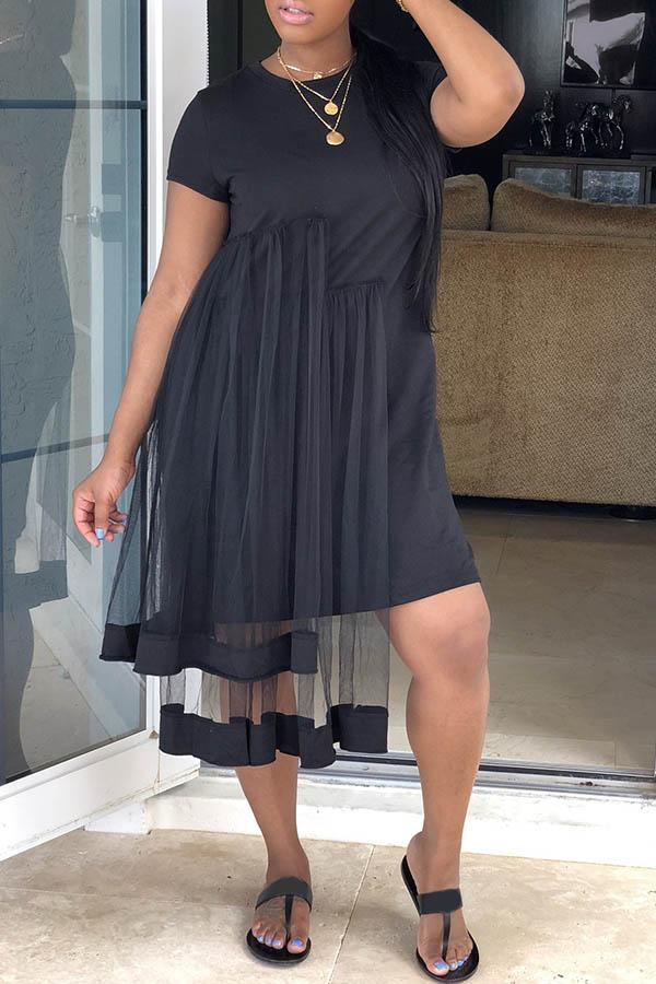 Irregular Hem Tee Dress