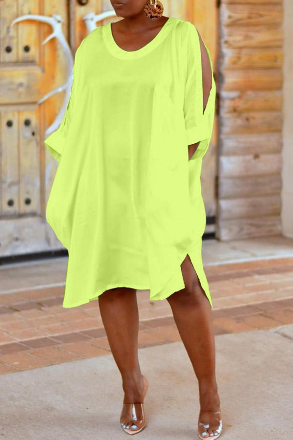 Loose Shirt Cloth Cuff Dress(Without Pocket)