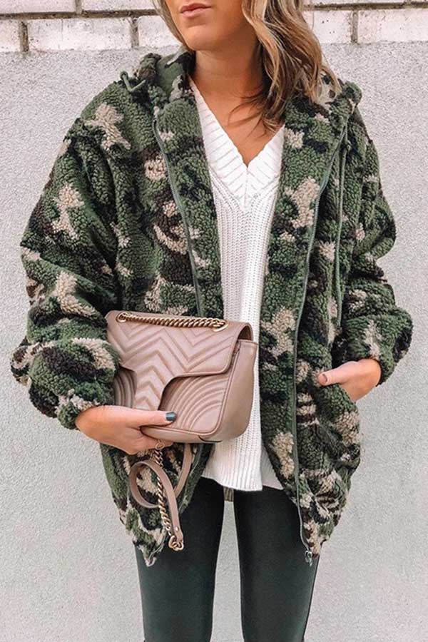 Camouflage Pocket Cap Coat