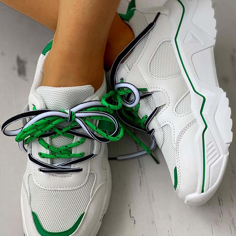 Solid Color Mesh Shoes