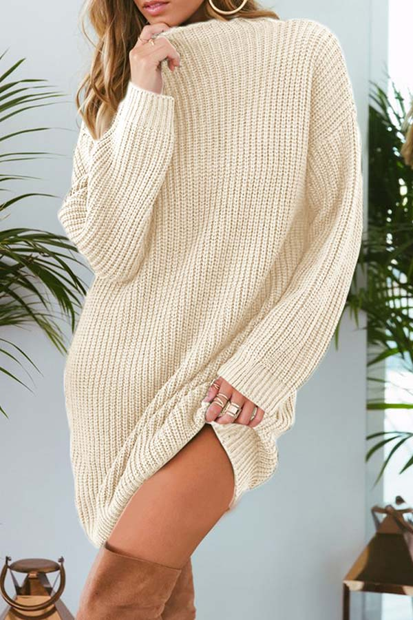 Baggy Solid Color Long Sweater