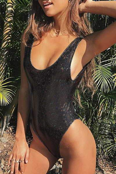 Metallic Look Swimsuit