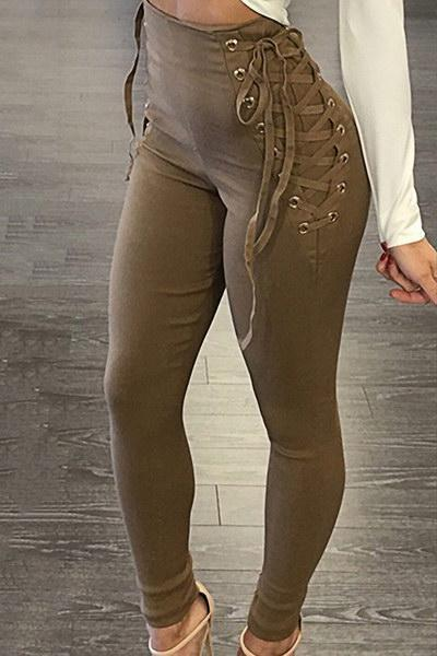 Lace Up Skinny Pant