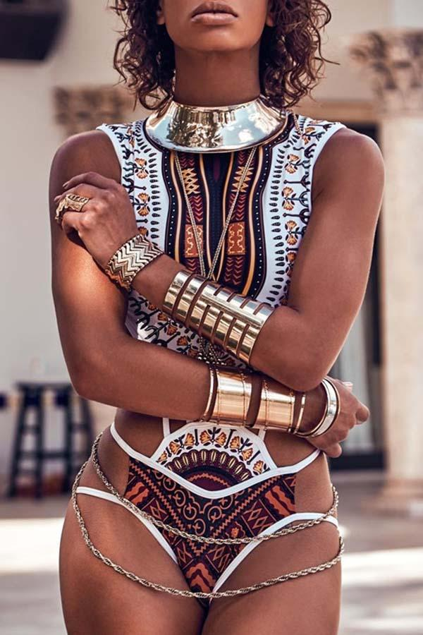 Tribal Cut Out Monokini