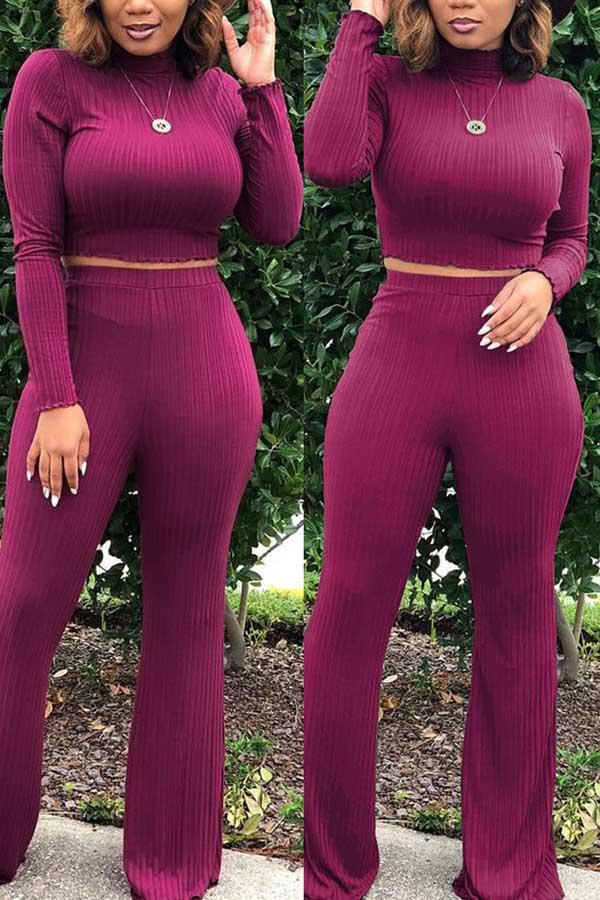 Lumbar Belly Polo Neck Set