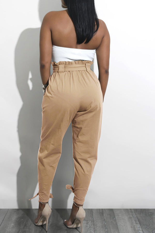 High Waistband Loose Trousers (With Belt)