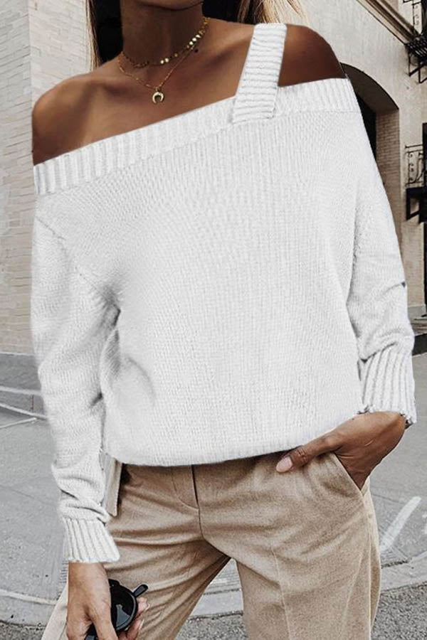 Off Shoulder Long Sleeve Sweater