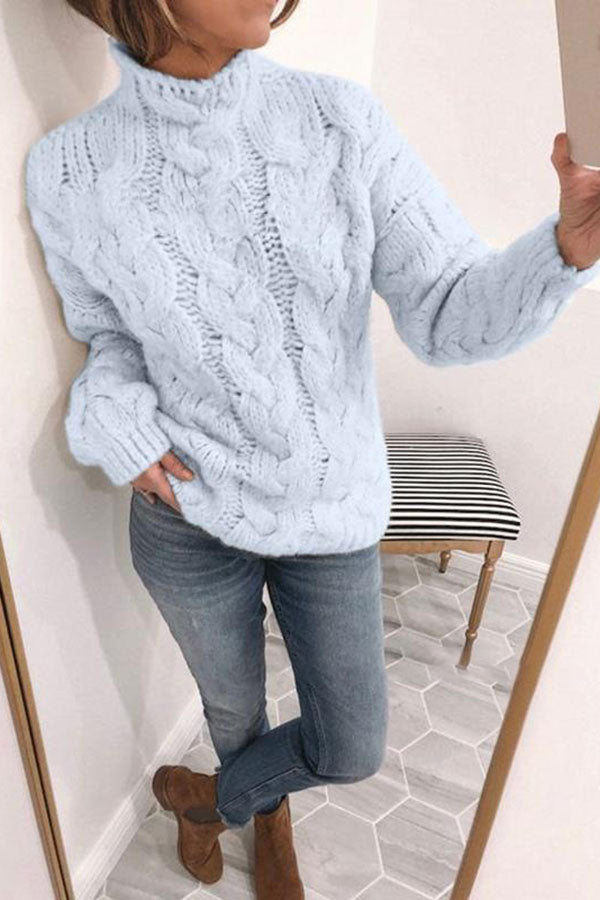 Round Neck Long Sleeve Loose Sweater