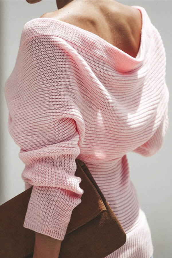 Solid Color Patchwork Sweater
