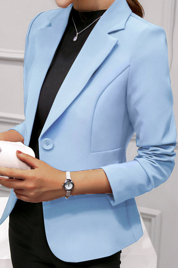 Long Sleeve Solid Color Blazer
